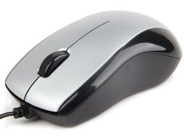 Optical mouse 1000 DPI, USB, silver-black