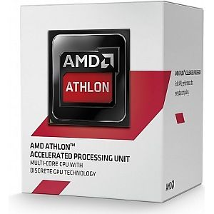 AMD Athlon 5350 Socket-AM1,  Quad Core, 2.05GHz, 2MB, 25W, 28nm, Radeon R3-series,  Boxed w/fan (AD5350JAHMBOX)