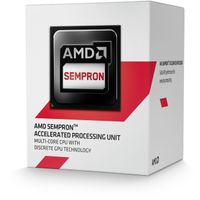 AMD Sempron 3850 Socket-AM1,  Quad Core, 1.3GHz, 2MB, 25W, 28nm, Radeon R3-series,  Boxed w/fan (SD3850JAHMBOX)