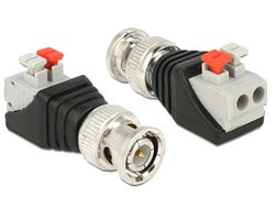 DELOCK Adapter Terminalblock 2Pin -> BNC Stecker (65525)