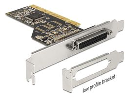 DELOCK PCI Card 1x Parallel inkl. low Profile Blende (89362)