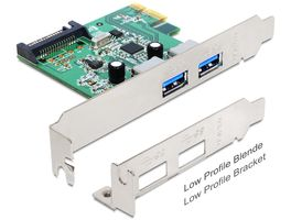 PCI Express Card 2x USB-A 3.0 ext, 1x SATA/PCI int