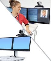 ERGOTRON SV TELEPRESENCE KIT FOR DUAL MONITOR POWERED CART (97-820)