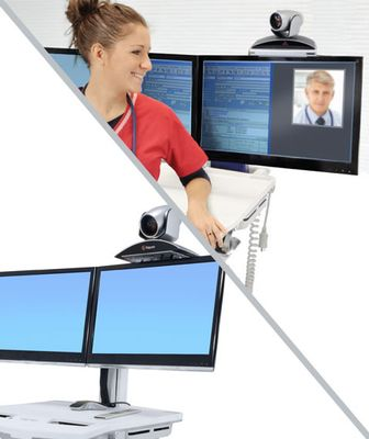 SV TELEPRESENCE KIT FOR DUAL MONITOR POWERED CART