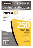 FELLOWES A4 Glossy 100 Micron Laminating Pouch - 250-pack