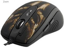 A4TECH Maus 6 Tas. XL-750BH USB LaserGaming Doppelklicktaste (A4-XL-750BH)
