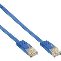 1,5m Patchkabel flach, U/UTP, Cat.6 - blau