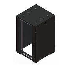 RE Rack 27Ux800Wx800D Glass with sides
