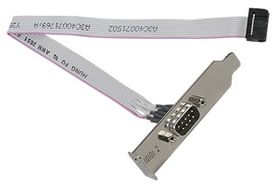 FUJITSU Serial port option Cable for 2nd RS-232-C 9 pin interface Occupies PCI slot For RX300 S3 (S26361-F3120-L3)