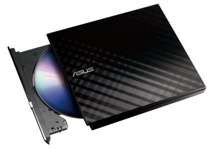 ASUS DVD Writer External, Slim (SDRW-08D2S-U LITE/BLACK)