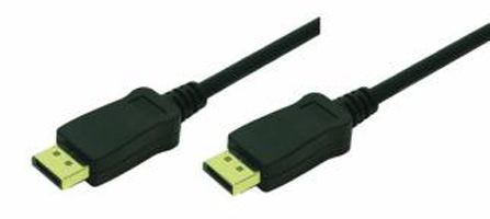 Display Port Cable 2x 20-pin male (Gold)black,  3M