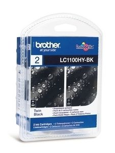 BROTHER Ink LC1100HYBK black | 2pcs | 900pgs x 2 | DCP395CN/ DCP585CW/ DCP6690CW (LC1100HYBKBP2)