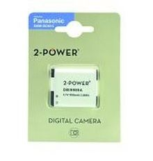 2-POWER Digital Camera Battery 3.7v 1050mAh Tilsvarende DMW-BCM13 (DBI9989A)