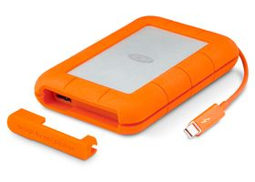 LACIE Rugged Thunderbolt 250GB SSD Thunderbolt,  USB 3.0, SATA 6GB/s, 387MB/s write, Neil Poulton (LAC9000490)