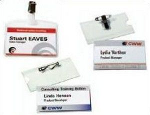 AVERY Name Badge Set  (Clip + Pin) Delivered With Inserts (4820)