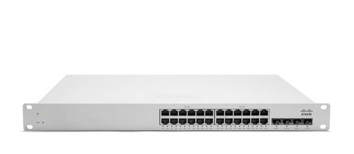 MERAKI MS220-24P L2 Cloud Managed 24 Port GigE 370W PoE Switch (MS220-24P-HW)