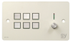 SY Electronics SY KP6V Panel 6 button+volum 147x86 hvit 4xIR/ RS-232,  2xInPorts,  2xRelay TriColor
