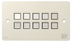 SY Electronics SY KP10 Panel 10button 147x86 hvit 4xIR/ RS-232,  2xInPorts,  2xRelay TriColor