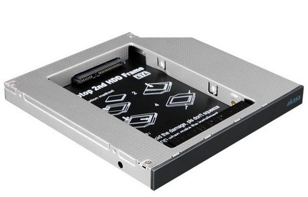 N.Stor 2,5 Zoll SATA HDD to Laptop IDE ODD Bay