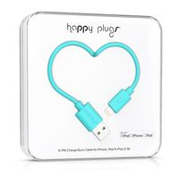HAPPY PLUGS Lightning to USB Charge/ Sync Cable 2m -Turquoise (9906)