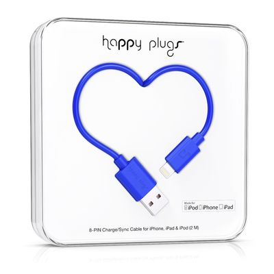 Happy Plugs Lightning to USB Charge/ Sync Cable 2.0m - Cobalt
