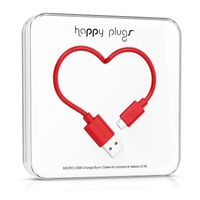 HAPPY PLUGS Micro-USB to USB Charge/ Sync Cable 2.0m - Red (9919)