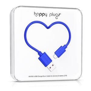 HAPPY PLUGS Micro-USB to USB Charge/ Sync Cable 2.0m - Cobalt (9926)