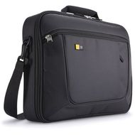 Advantage Line 15.6 Inch Laptop Briefcase with Tablet pocket, front org, Black