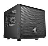 THERMALTAKE Core V1 Mini-ITX Case 2x USB 3.0 and 1x HD Audio I/O connector on top, one preinstalled 200mm fan