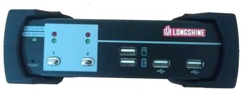 LONGSHINE 2-Port USB KVM Switch DVI/Audio inkl. Ka (LCS-K702D)