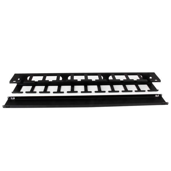 STARTECH 1U Horizontal Finger Duct Rack Cable Management Panel with Cover  (CMDUCT1UX)