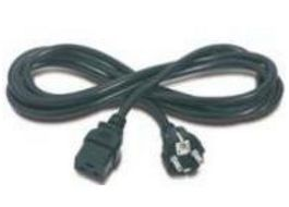 Power cord (Black) - 12 AWG, three-conductor,  2.5m (8.2ft) long