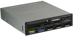 CARDREADER MIGHTY CHRGR 3.5IN SUPER-CHARGE-PORTS:USB 3.0/2.0   IN PERP