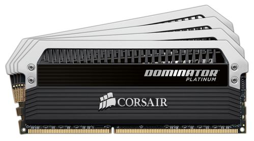 CORSAIR Dominator  Platinum 16GB kit (4x4GB) DDR4 PC4-26400,  3333MHz DIMM 16-18-18-36,  1.35V, (CMD16GX4M4B3333C16)