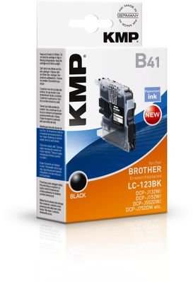 B41 ink cartridge black compatible mit Brother LC-123 BK