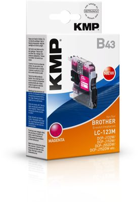 B43 ink cartridge magenta compatible with Brother LC-123 M