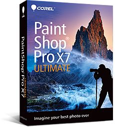 PAINTSHOP PRO X7 ULTIMATE MINI-BOX EN/ FR/ IT/ NL             IN CROM