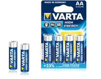 VARTA 1x4 High Energy Mignon AA LR 6 DE-Version