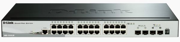 28-Port Gigabit Smart Stackable Switch w/ 4 10g SFP+