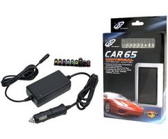 Fortron Universal Car Charger 65 W till notebooks,  12 V DC input, 18-20 V output, 9 power tips