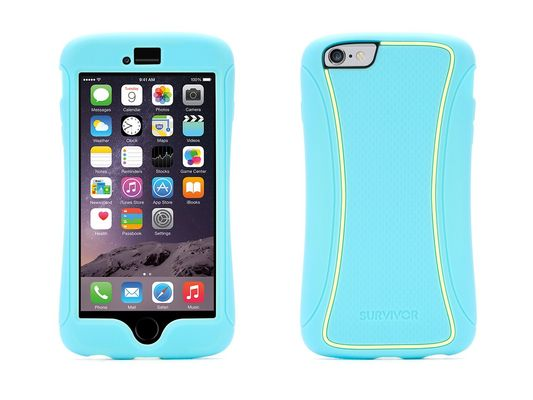 Griffin iPhone 6/6s Plus Survivor Slim TwoTone Turquoise/ Lemon Drop