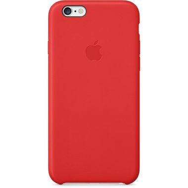 Apple Leather Case iPhone 6, Red Deksel til iPhone 6