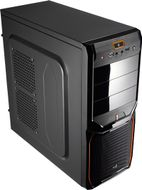 AEROCOOL V3X Advance Evil Black Edition Midi-Tower - schwarz/ ora (EN57394)