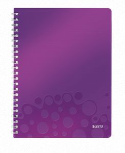 LEITZ Notepad WOW PP A4 w/holes ruled 80spurpl (46370062*6)