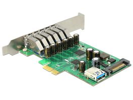PCI Express Card 6x ext +1x int USB 3.0