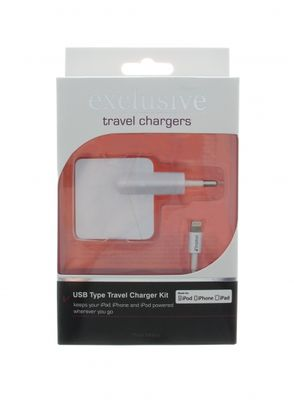 iPhone 5 MFI WallCharger 2.4A Whi