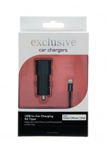 INSMAT CarCharger iPhone 5 MFI 2.4A Blac (520-8860)