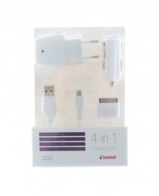 Charger mUSB/ iPhone 4 White