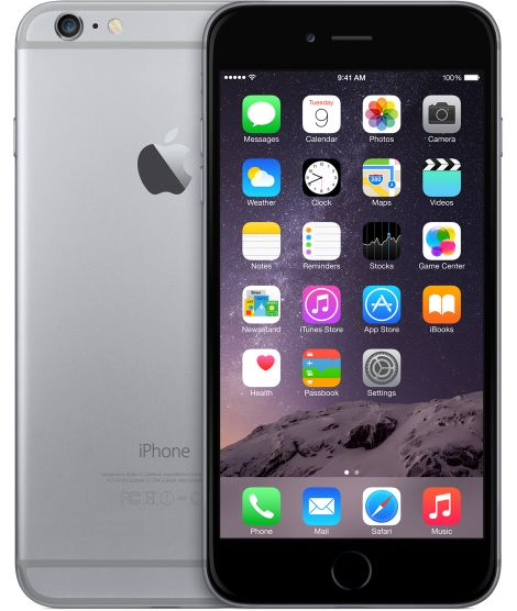 iPhone 6 Plus 64 GB - Mobiltelefon - Stellargrå