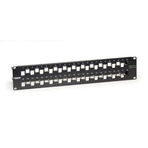 BLACK BOX Blank Patch Panel CAT6A Staggered - 48 port Factory Sealed (C6AMP70-48)